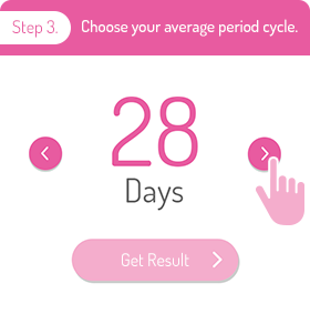 Step 3. Choose your average period cycle.