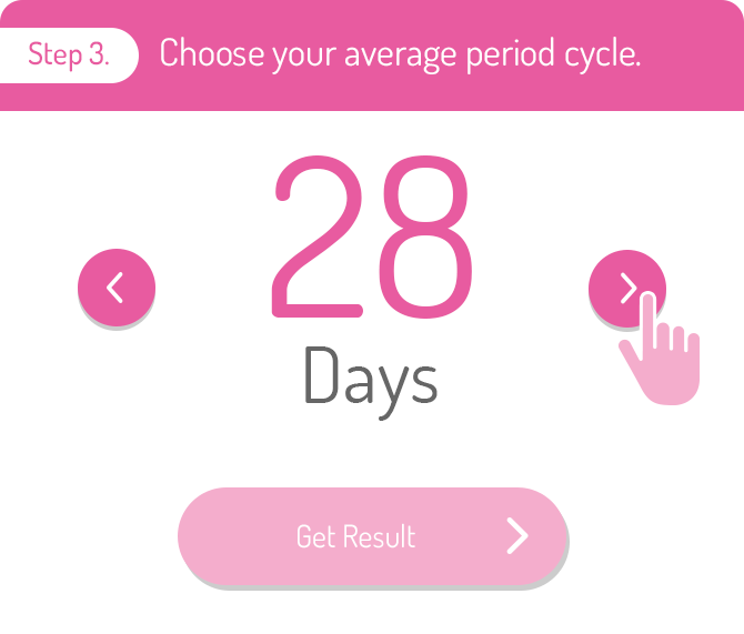 Step 3.Choose your average period cycle